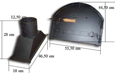 Chimeneas y puertas para hornos de venta en hornos - Chimeneas para hornos de lena ...